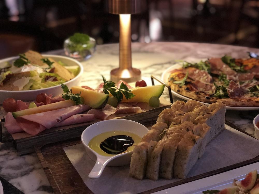 foods on platter