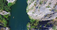 aerial photography of lake
