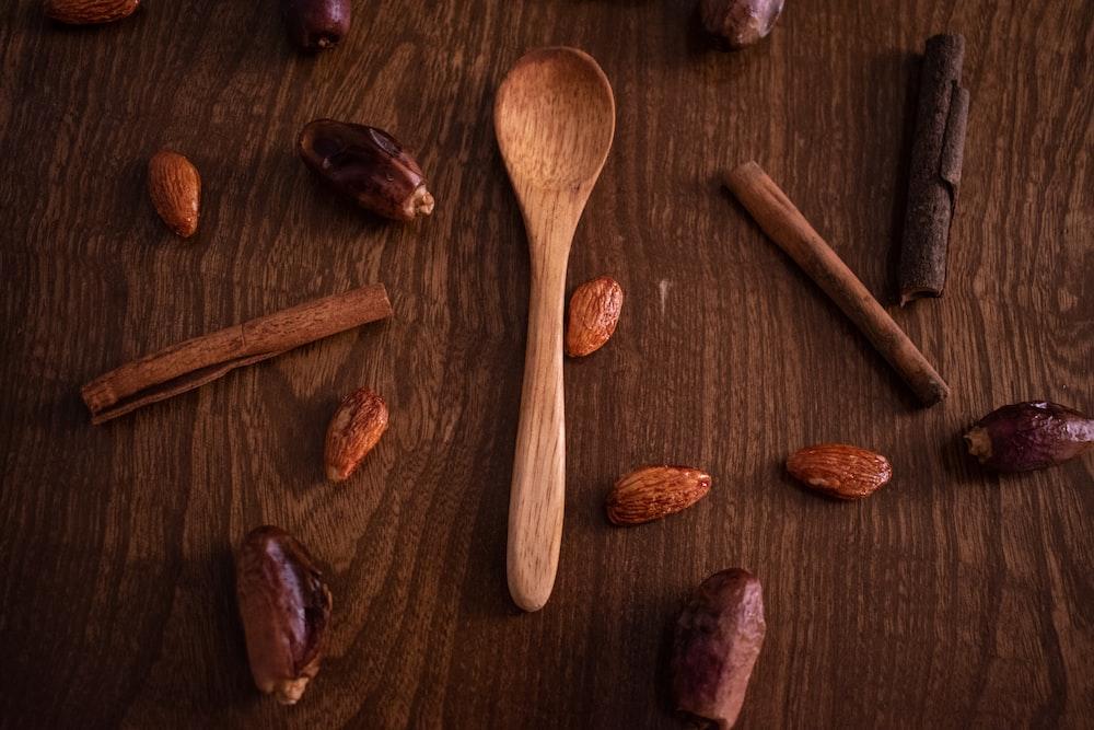 beige wooden spoon