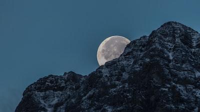 Moon set in the Rockies