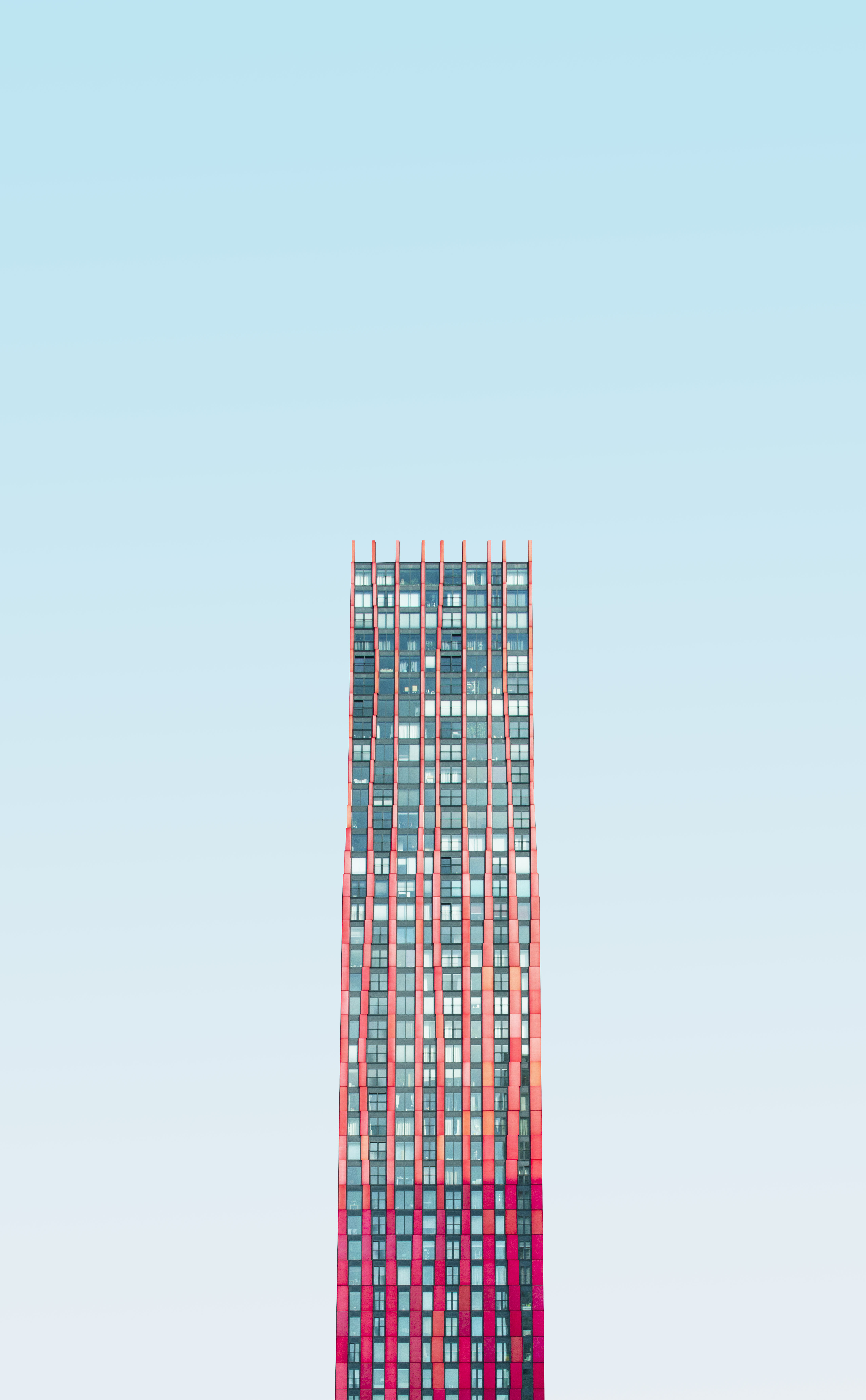 Blue Skies High Rise color photography print