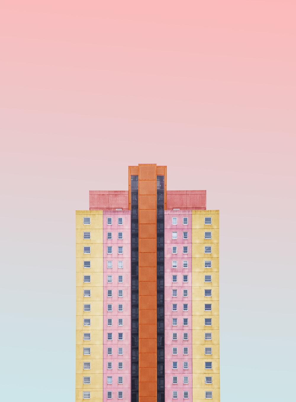 multicolored building clipart