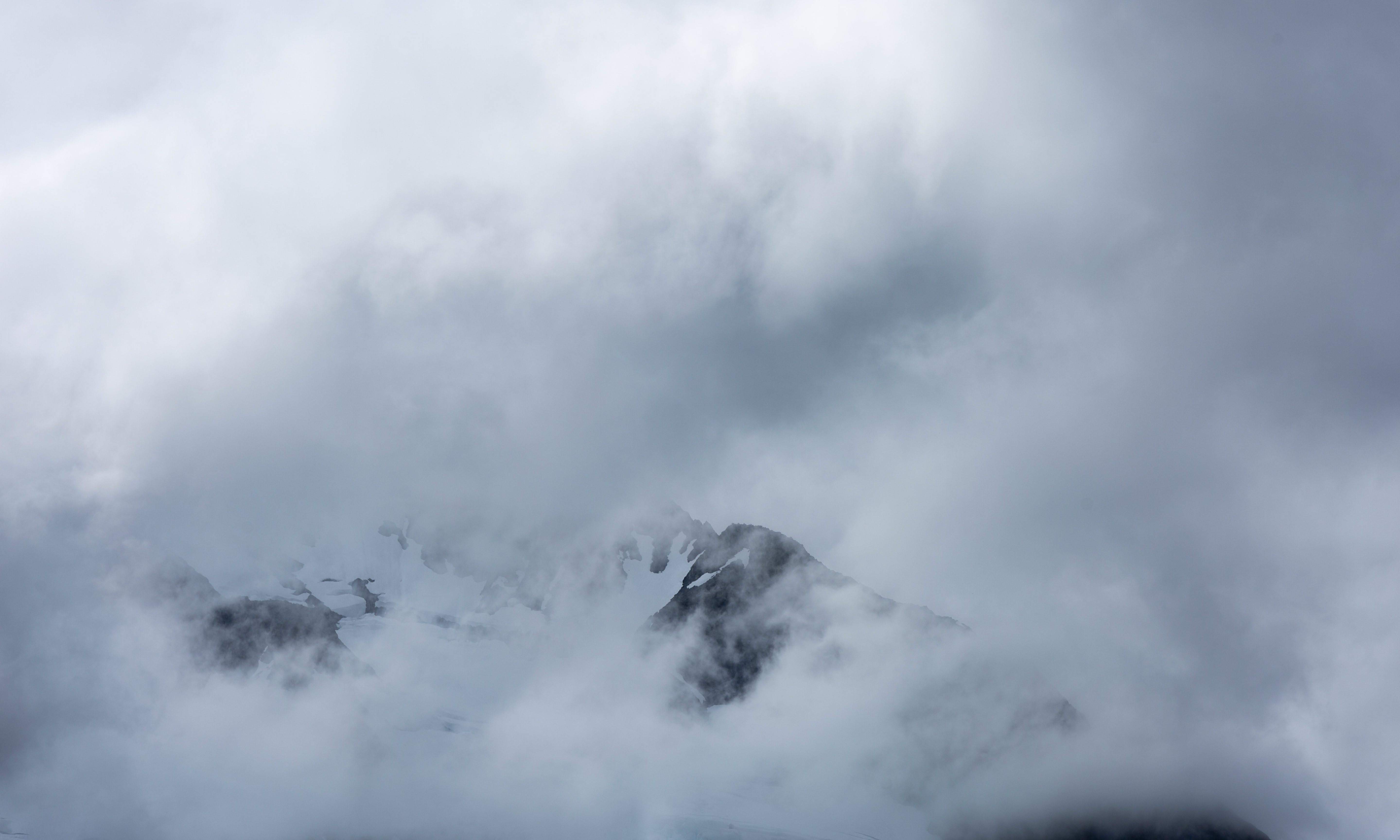 clouds covered mountain