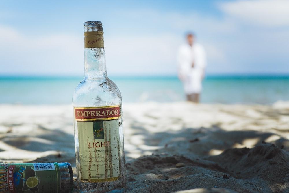 Emperador Light whiskey bottle