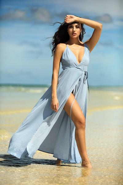 Lauren and the Blue Dress