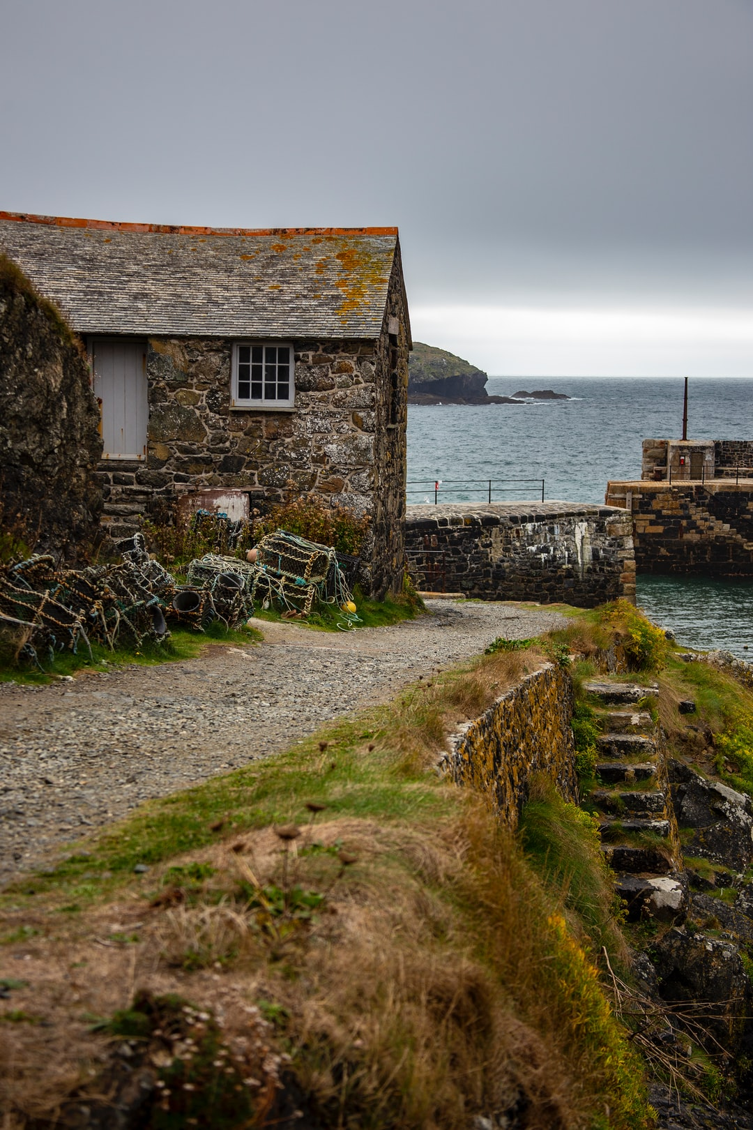 A view that hasn't changed in 200 years; the quayside at Mullion Cove in Cornwall