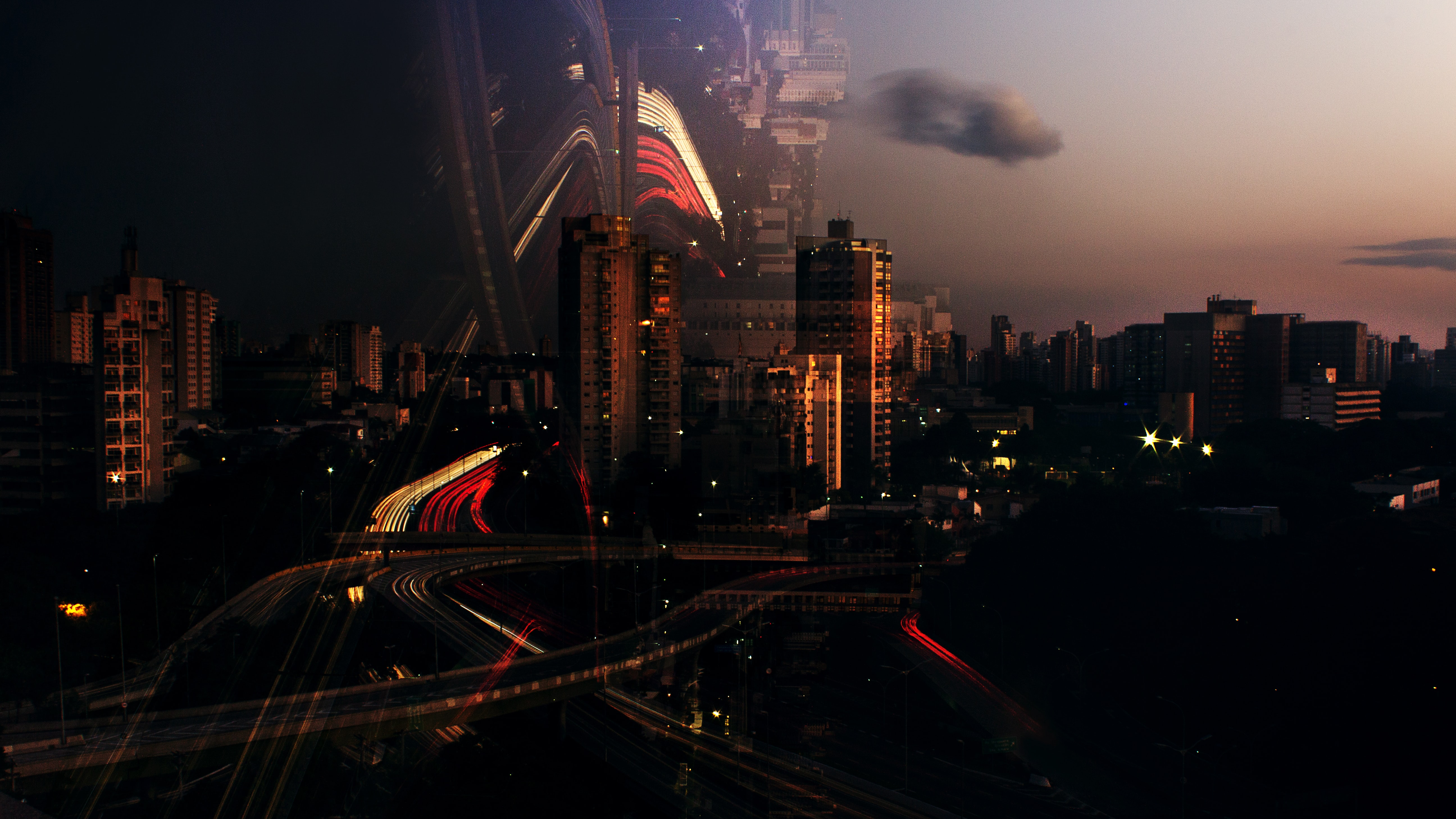 landscape photography of a city during golden hour