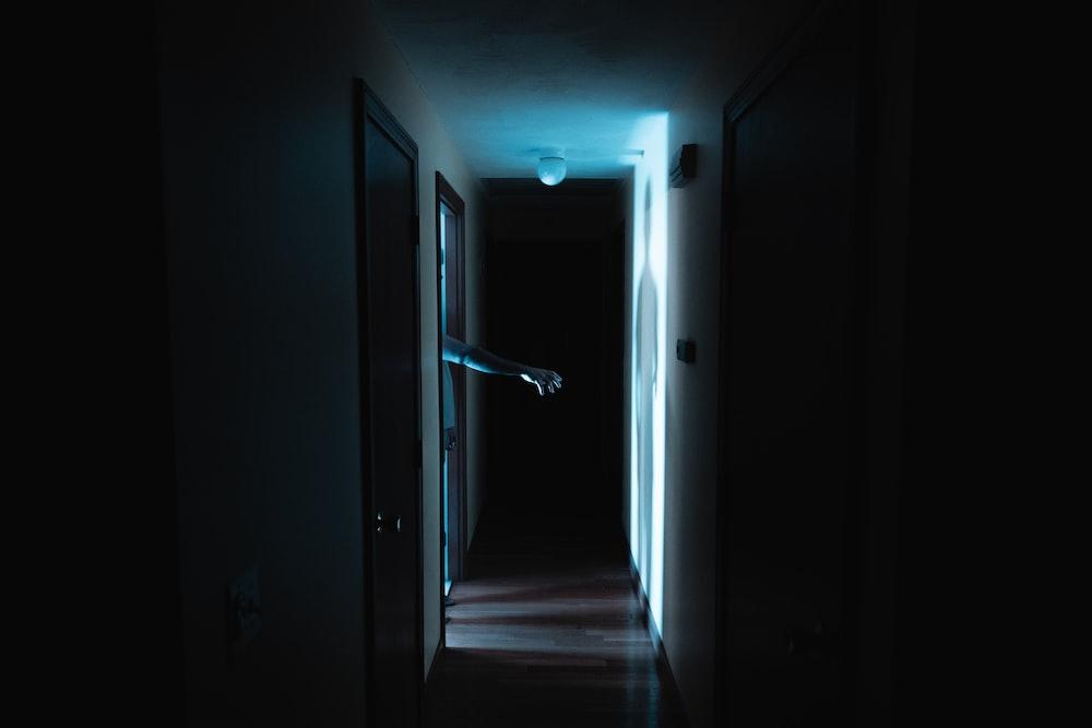 hand near the door