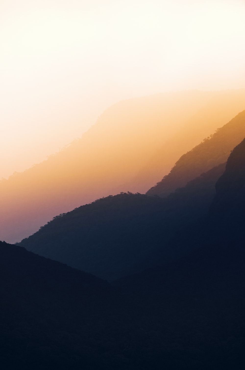 sunrise view on mountain