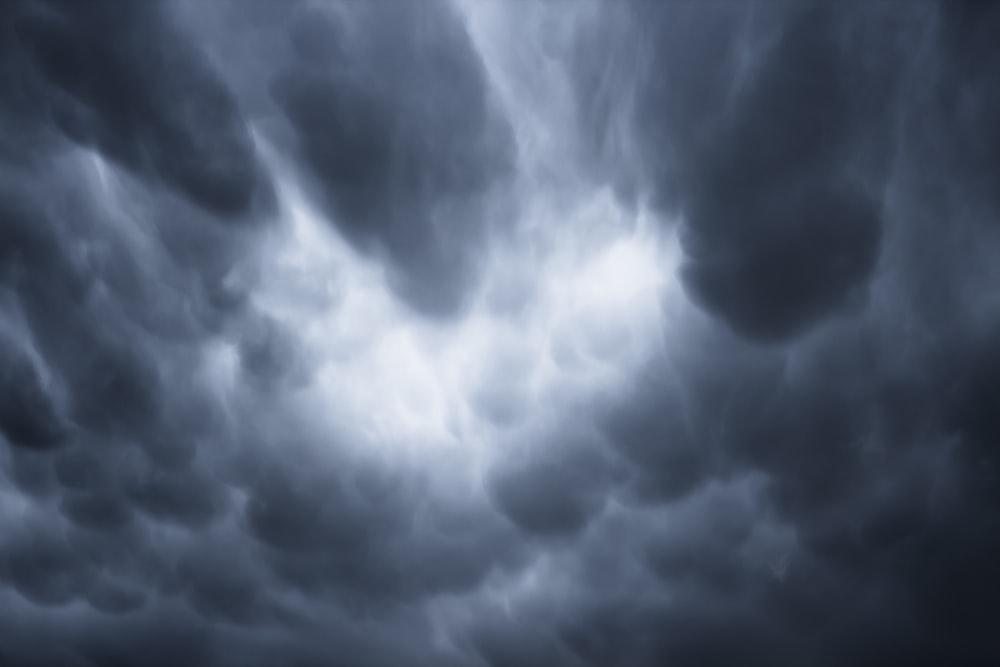dark clouds during daytime