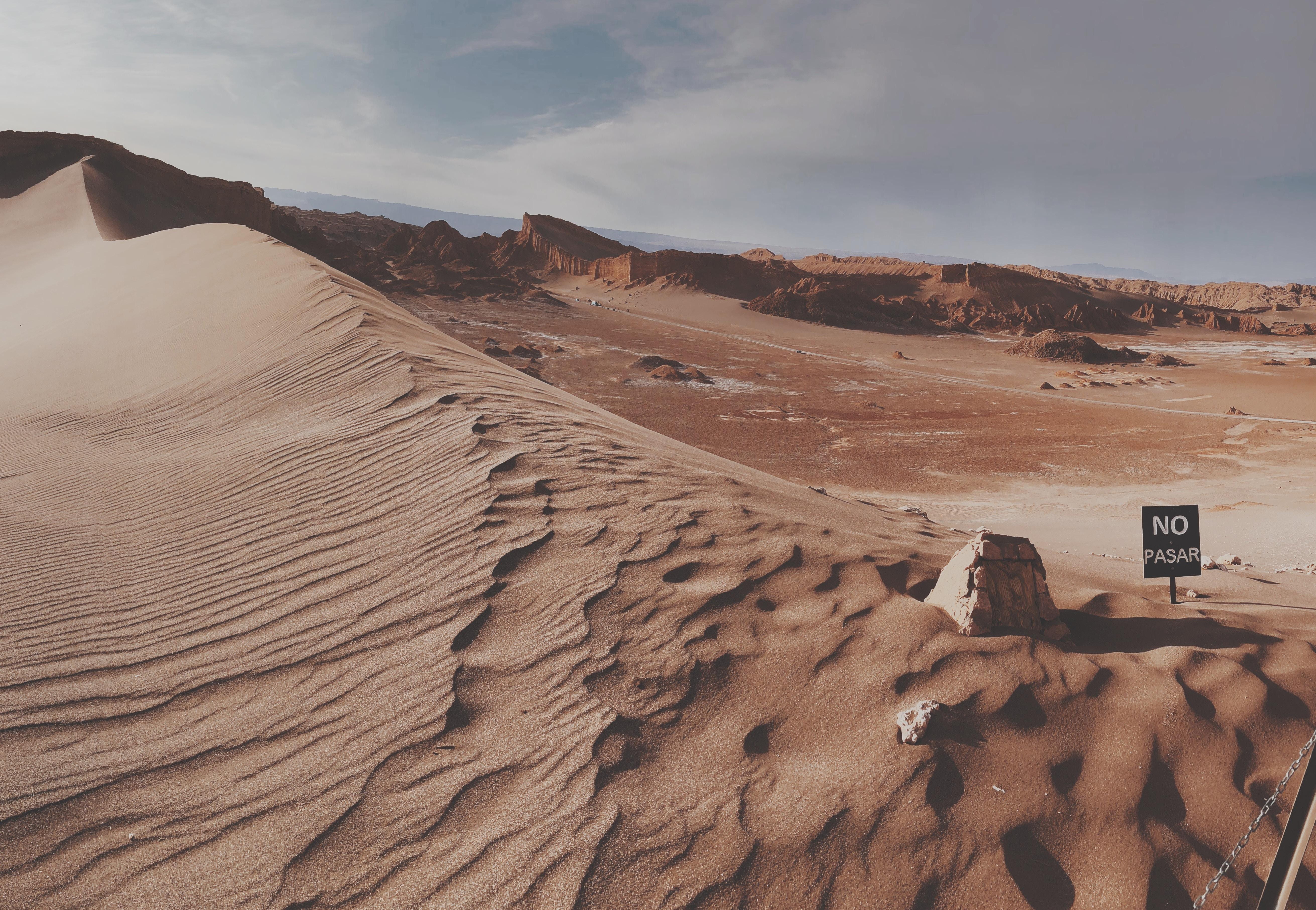 brown desert at daytime