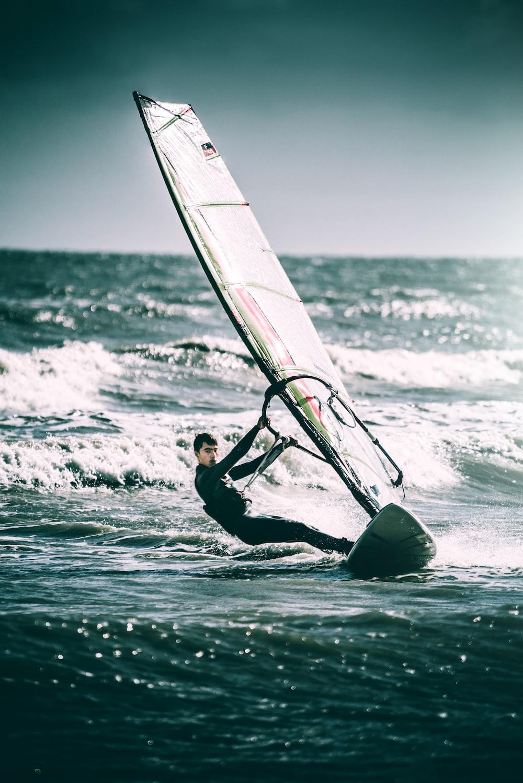 man sailing on sea