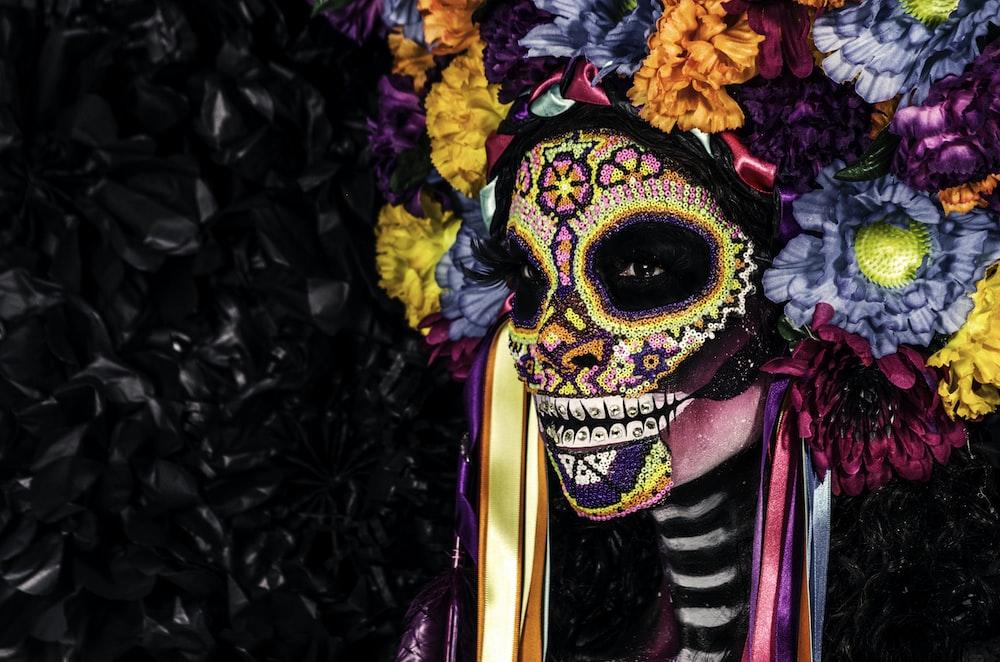 woman in a Cinco de Mayo makeup