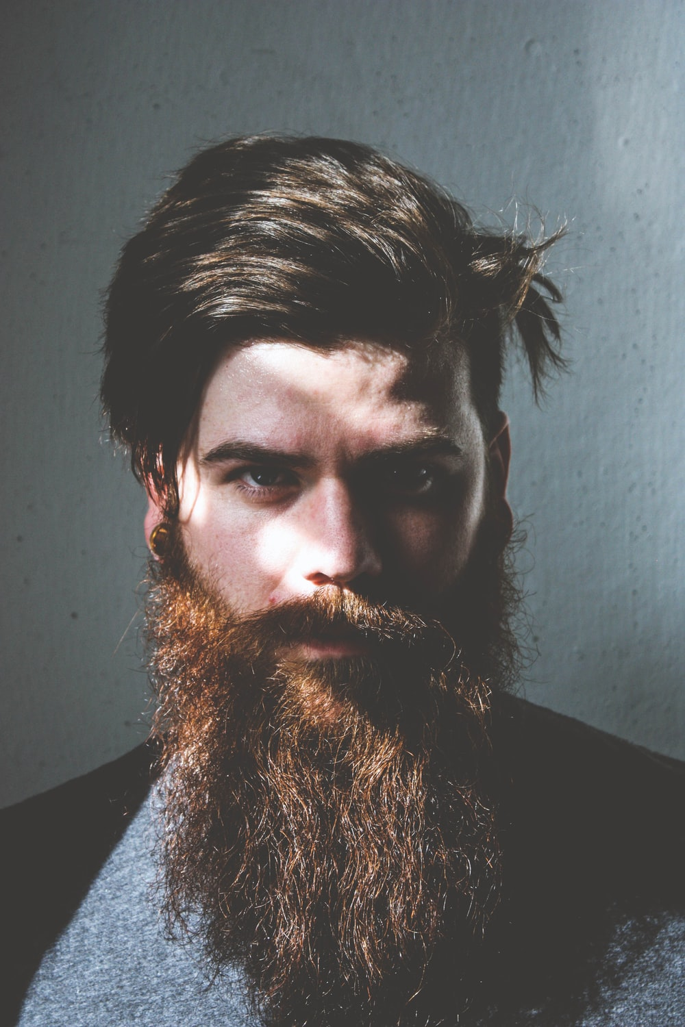a man with a beard and mustache