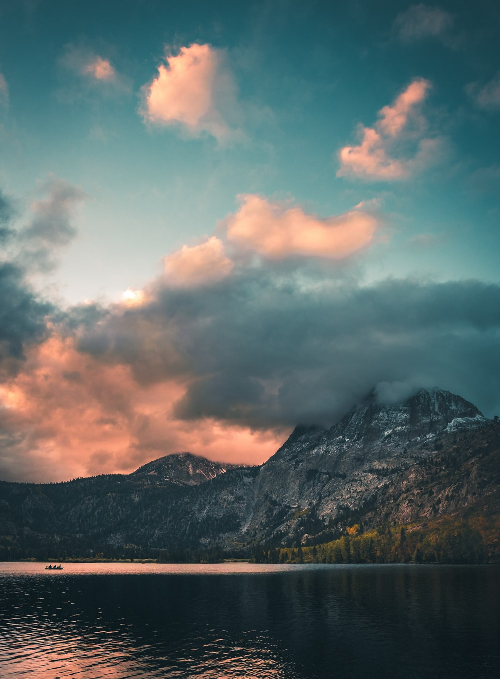 landscape photography of mountain alps