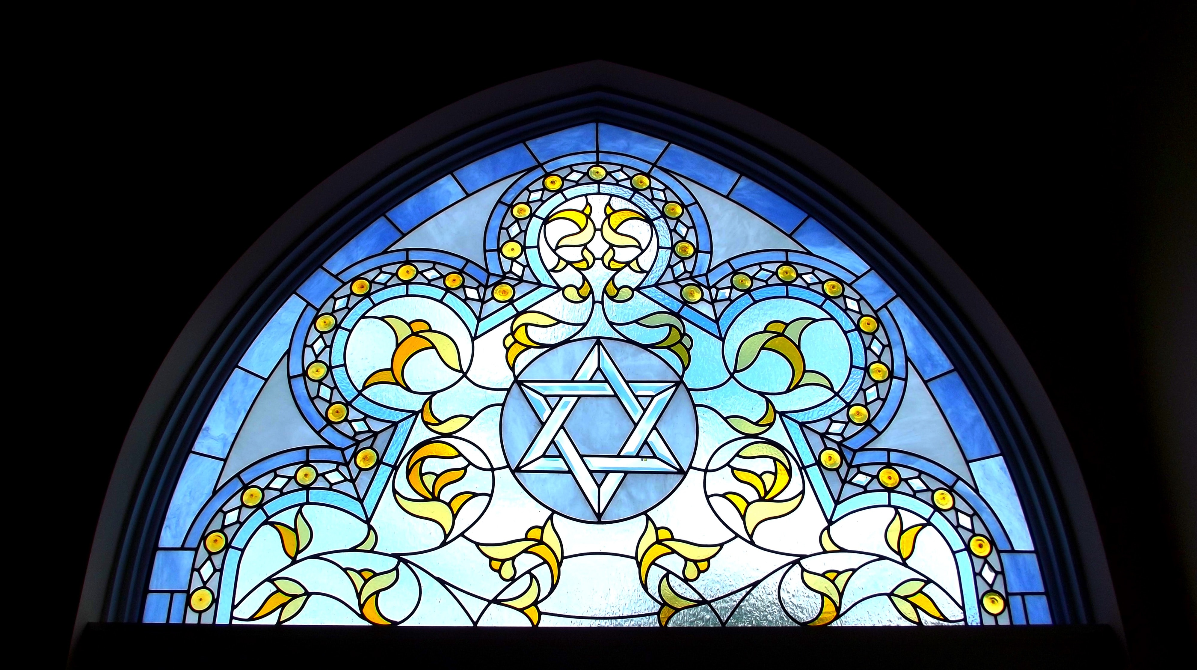 Star of David stained glass