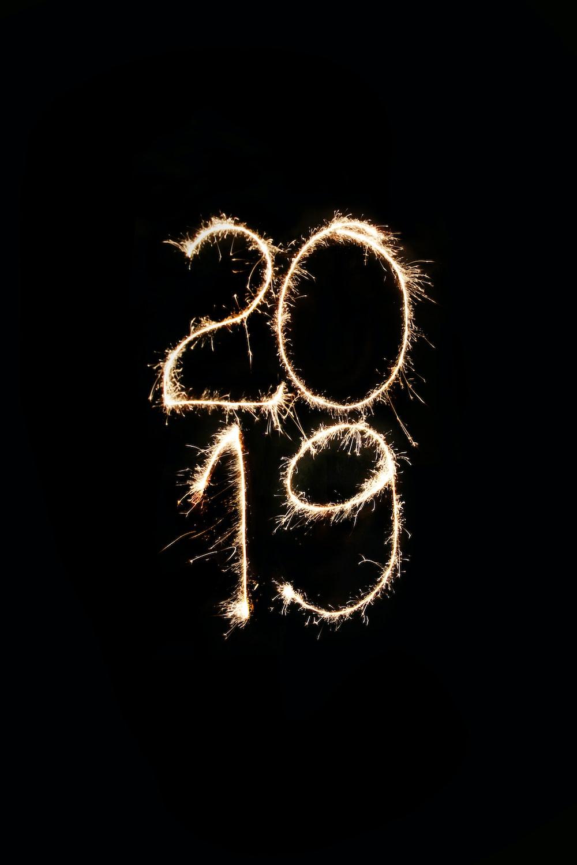 flaming 2019 vector art