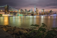 Beautiful photo I took of the Brooklyn Bridge at night in NYC during my vacation.