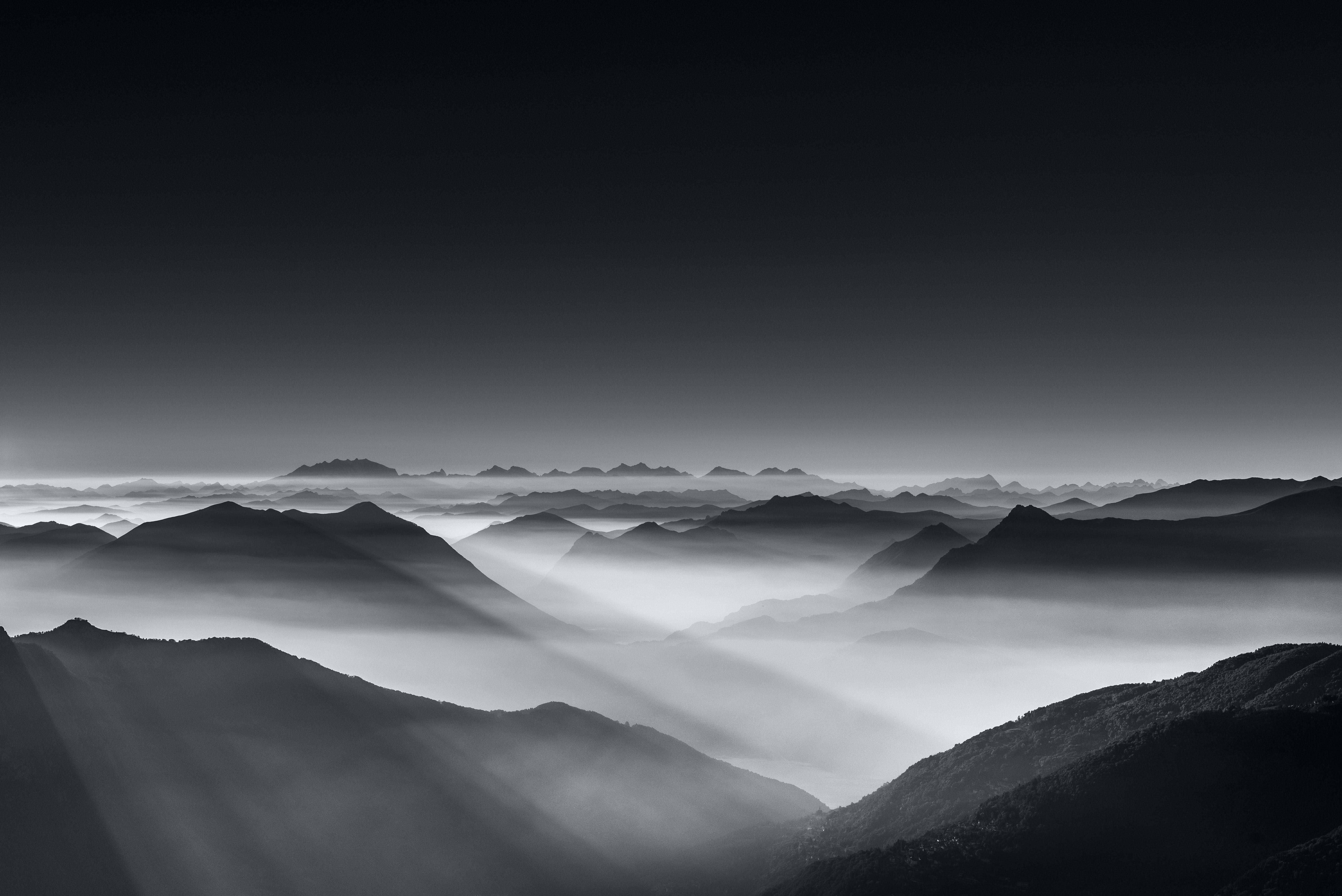 black and gray mountains illustration