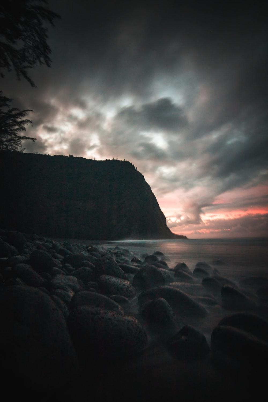 rocks near cliff
