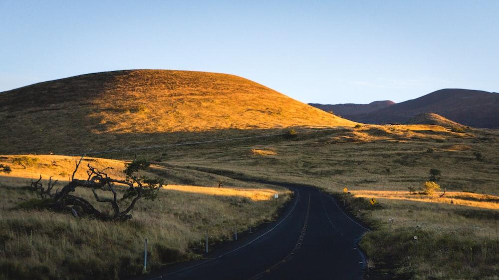 empty road near hill