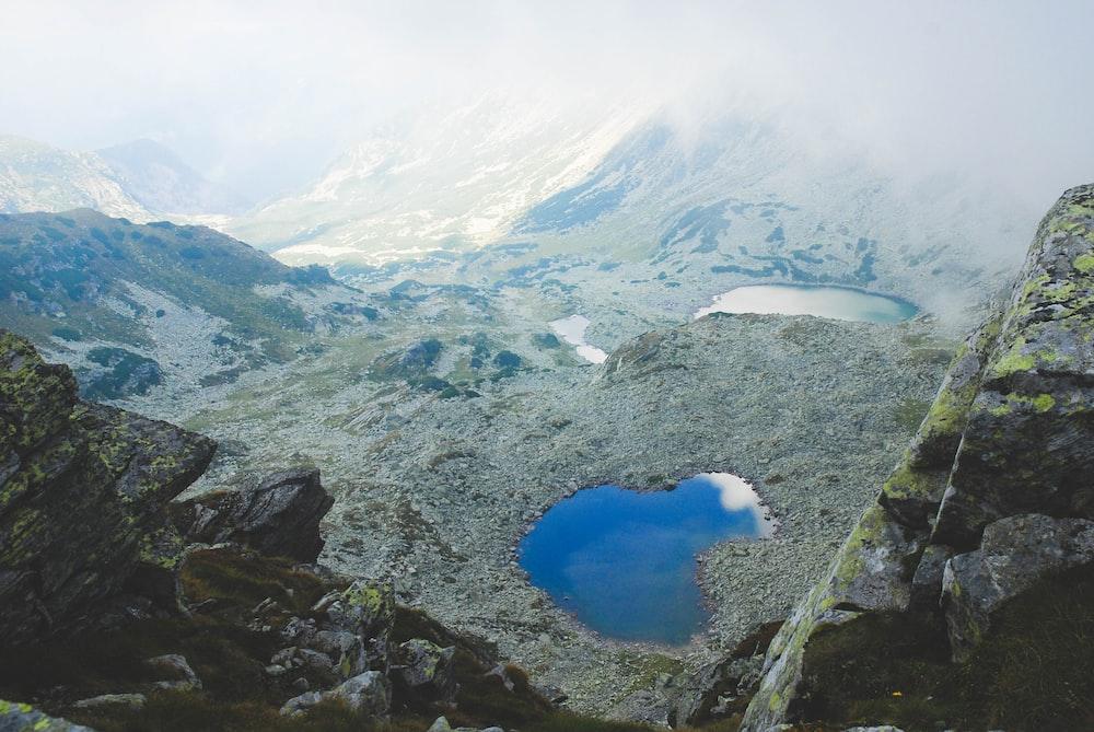 earial mountain view