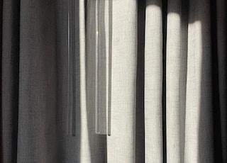 closed gray curtain