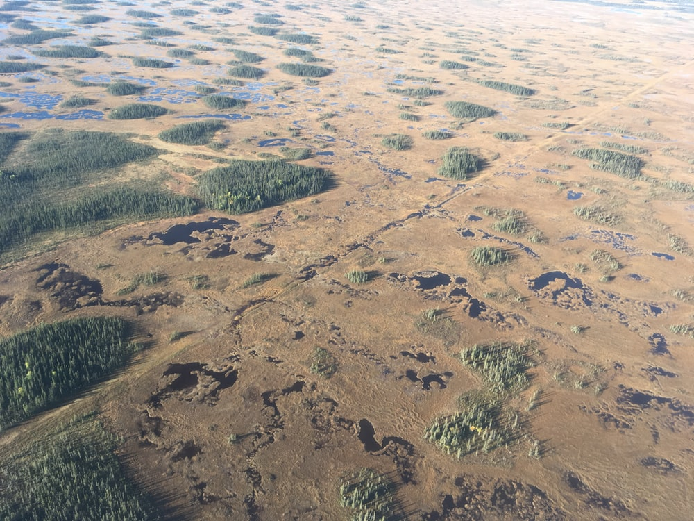 aerial photography of land mass during daytime