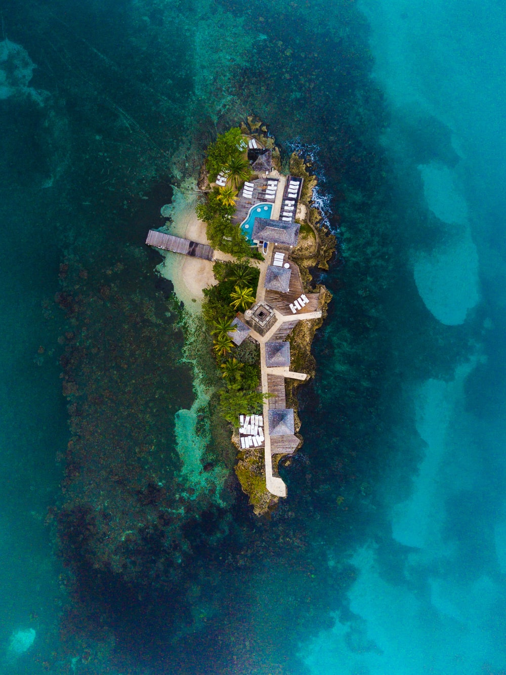 aerial photography of islan