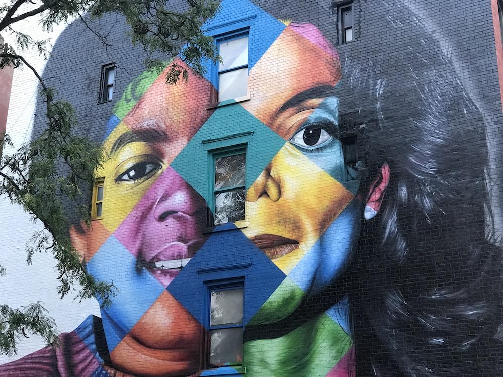 Michael Jackson portrait painted building at daytime