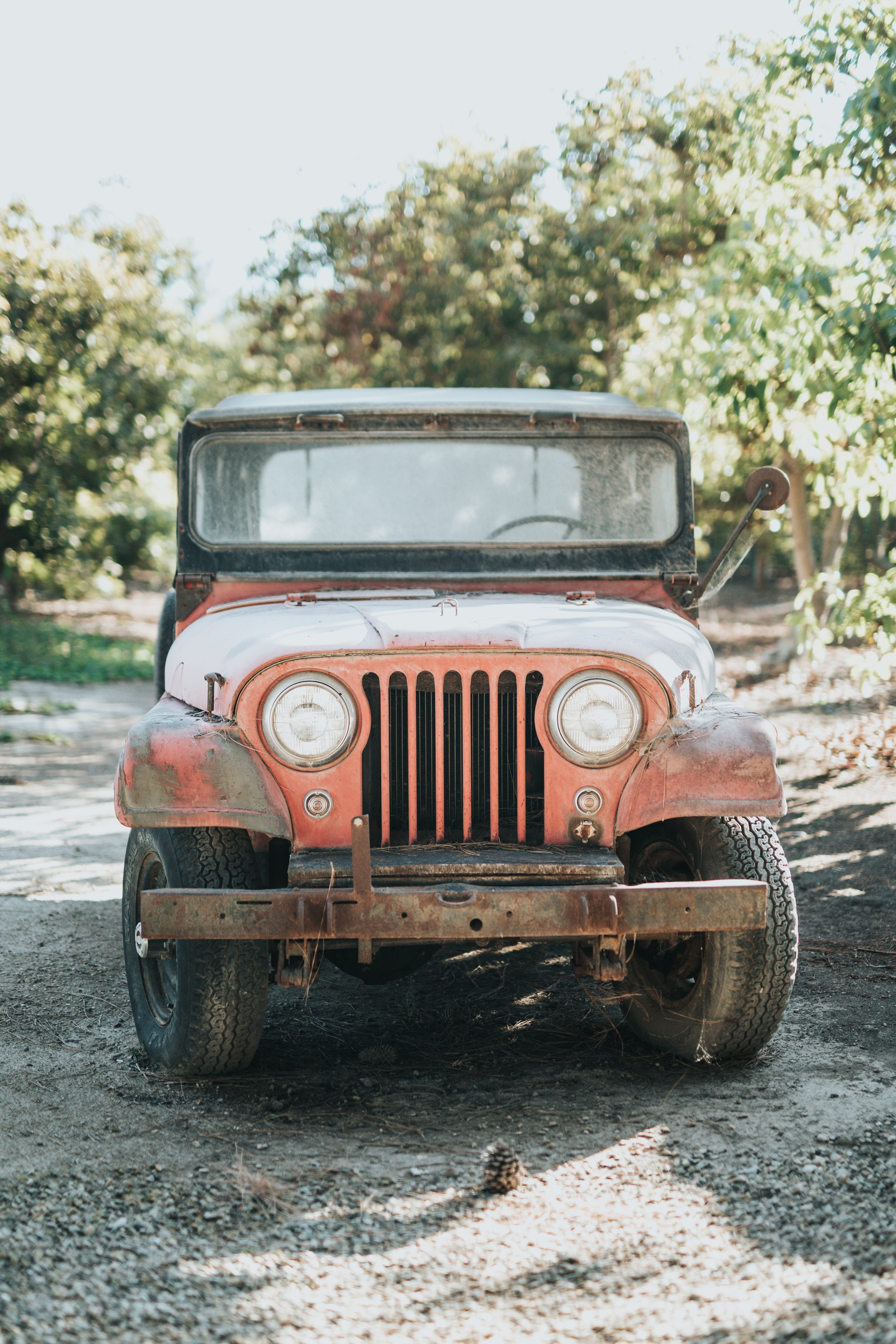 selective focus photography of brown Jeep Wrangler