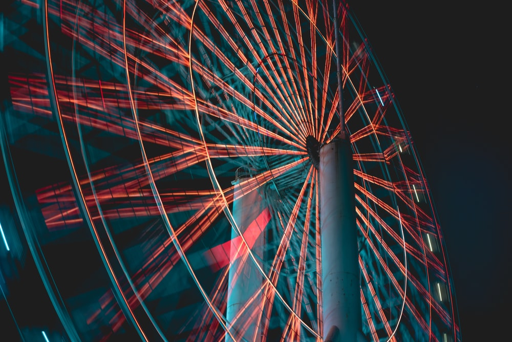brown and gray Ferris wheel