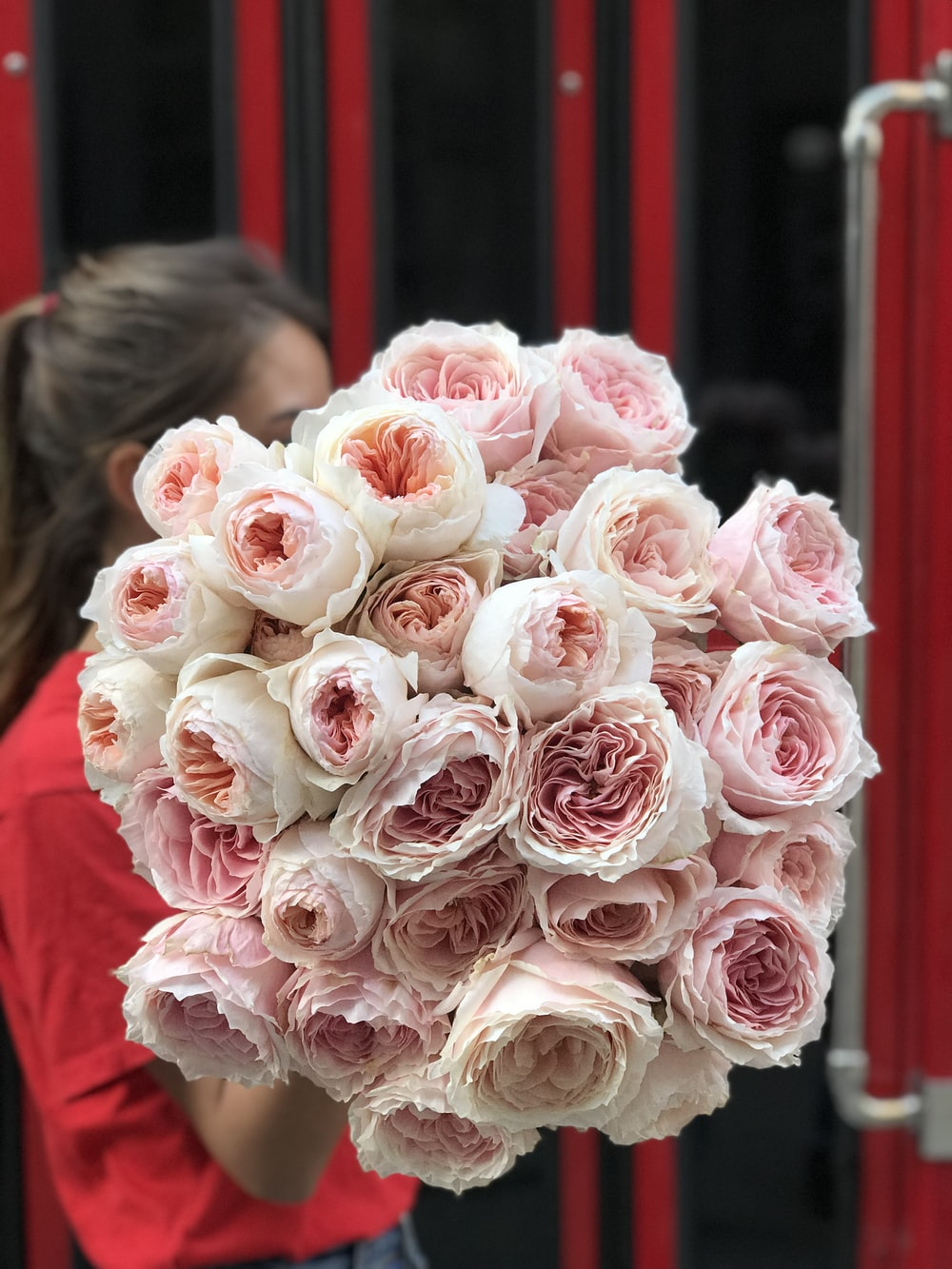 bouquet of pink petaled flowers