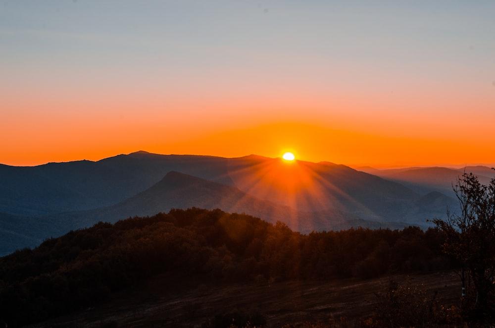 sun rise over mountain