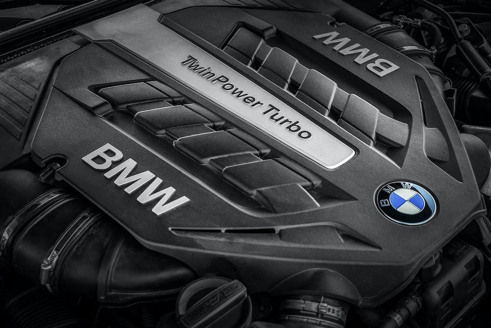 black BMW TurboPower engine bay