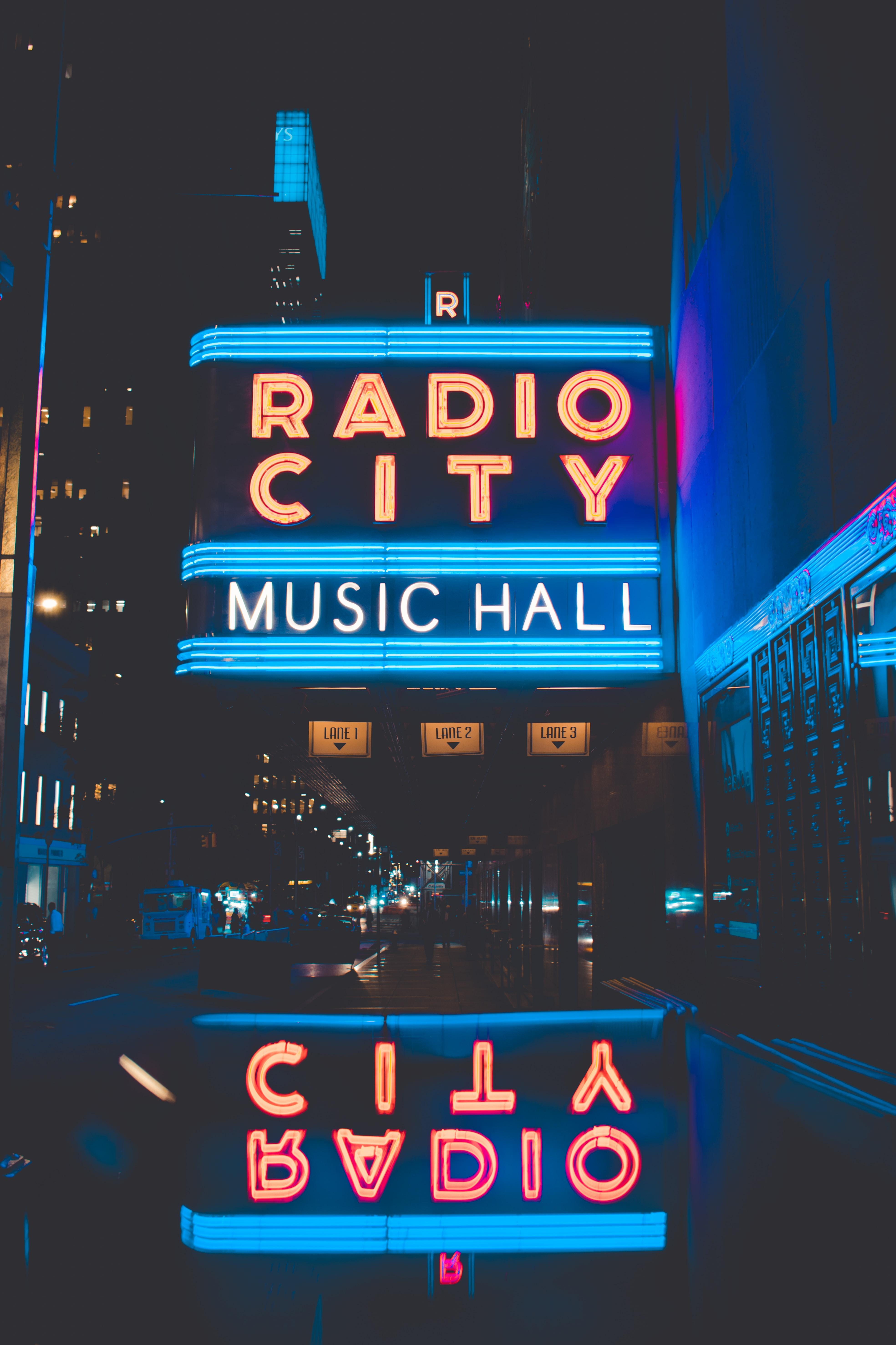 Radio City Music Hall LED signage