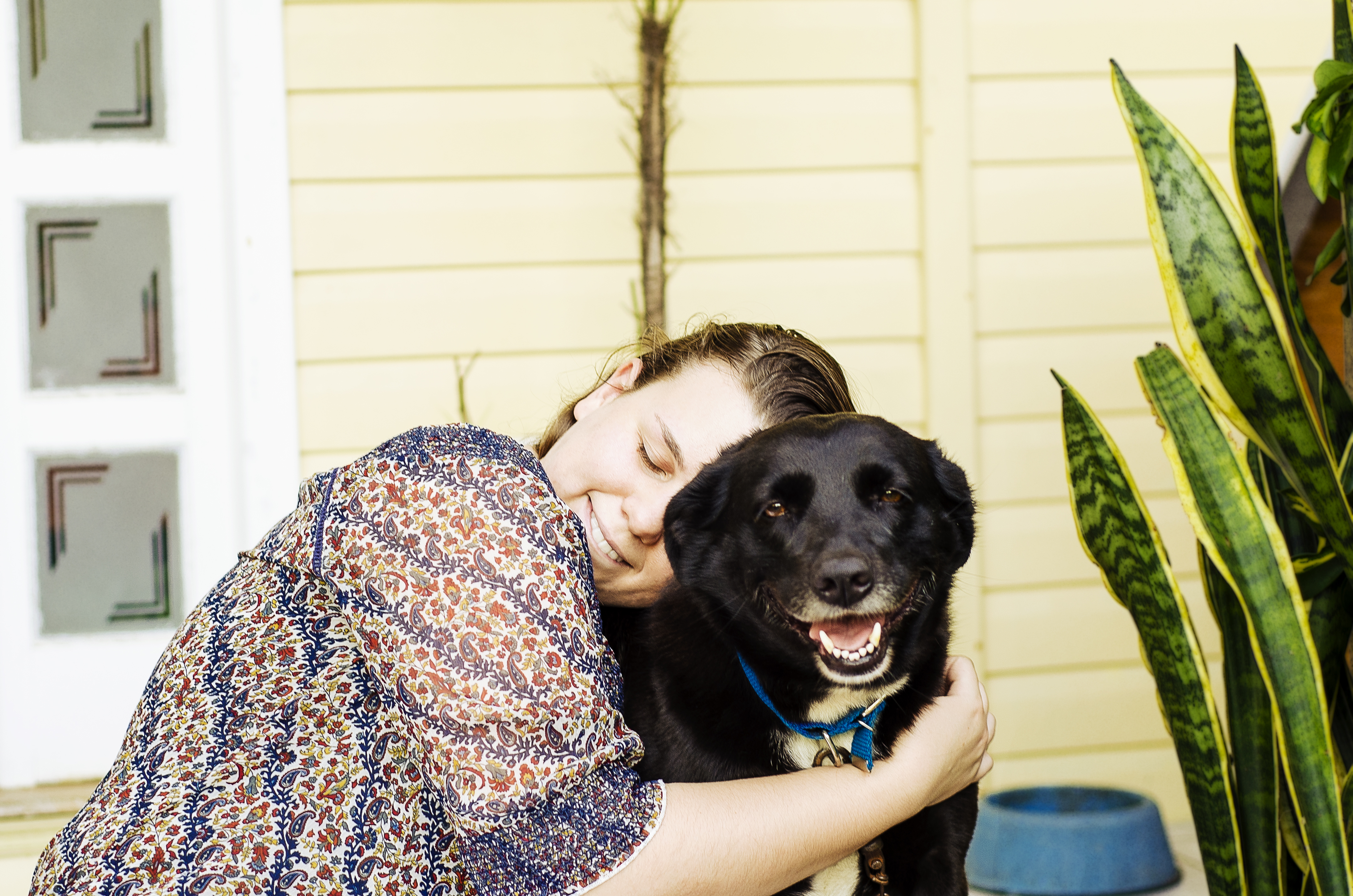 A portrait with my sister and my lovely dog.