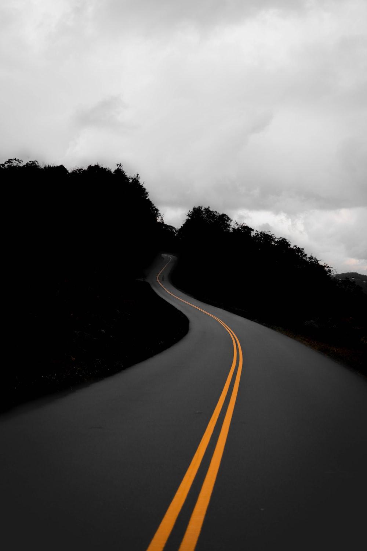 black concrete road