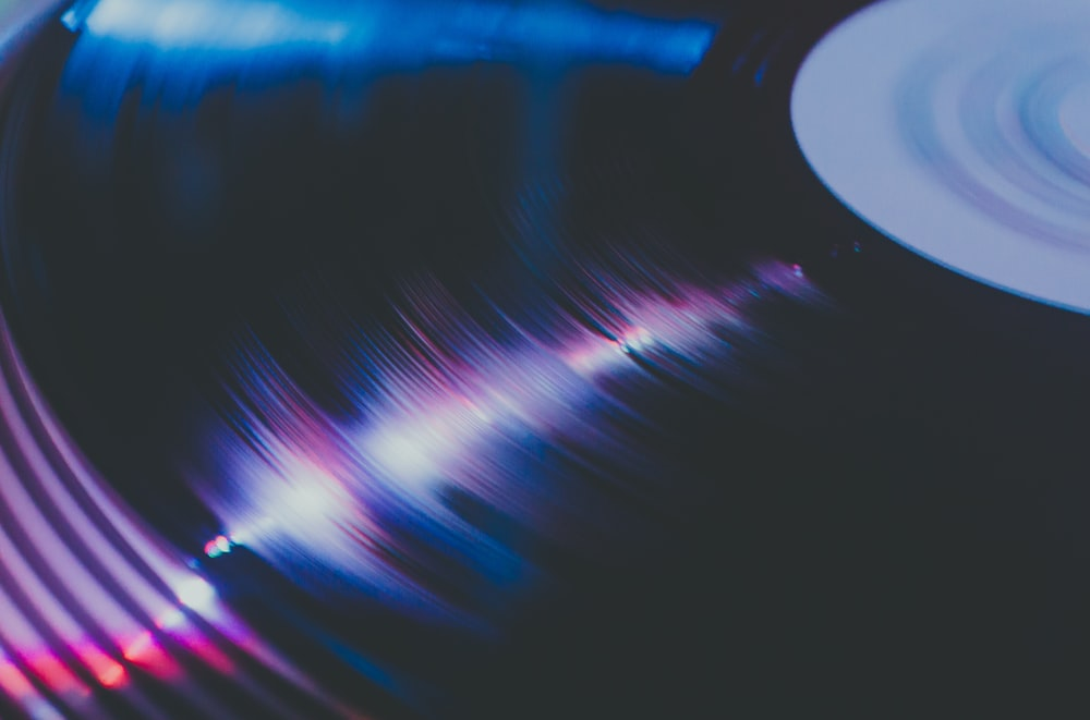 closeup photography of vinyl record