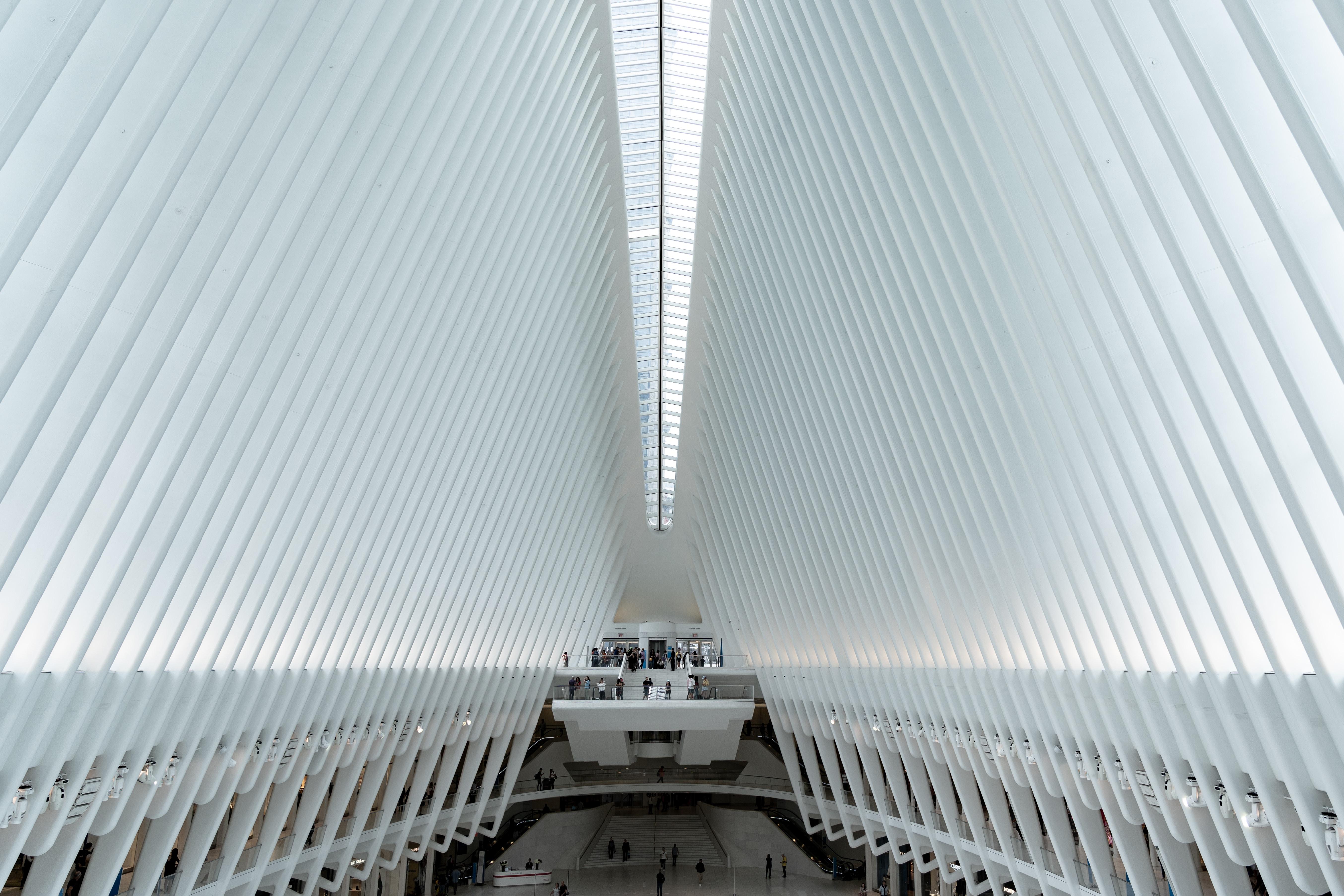 empty white hallway