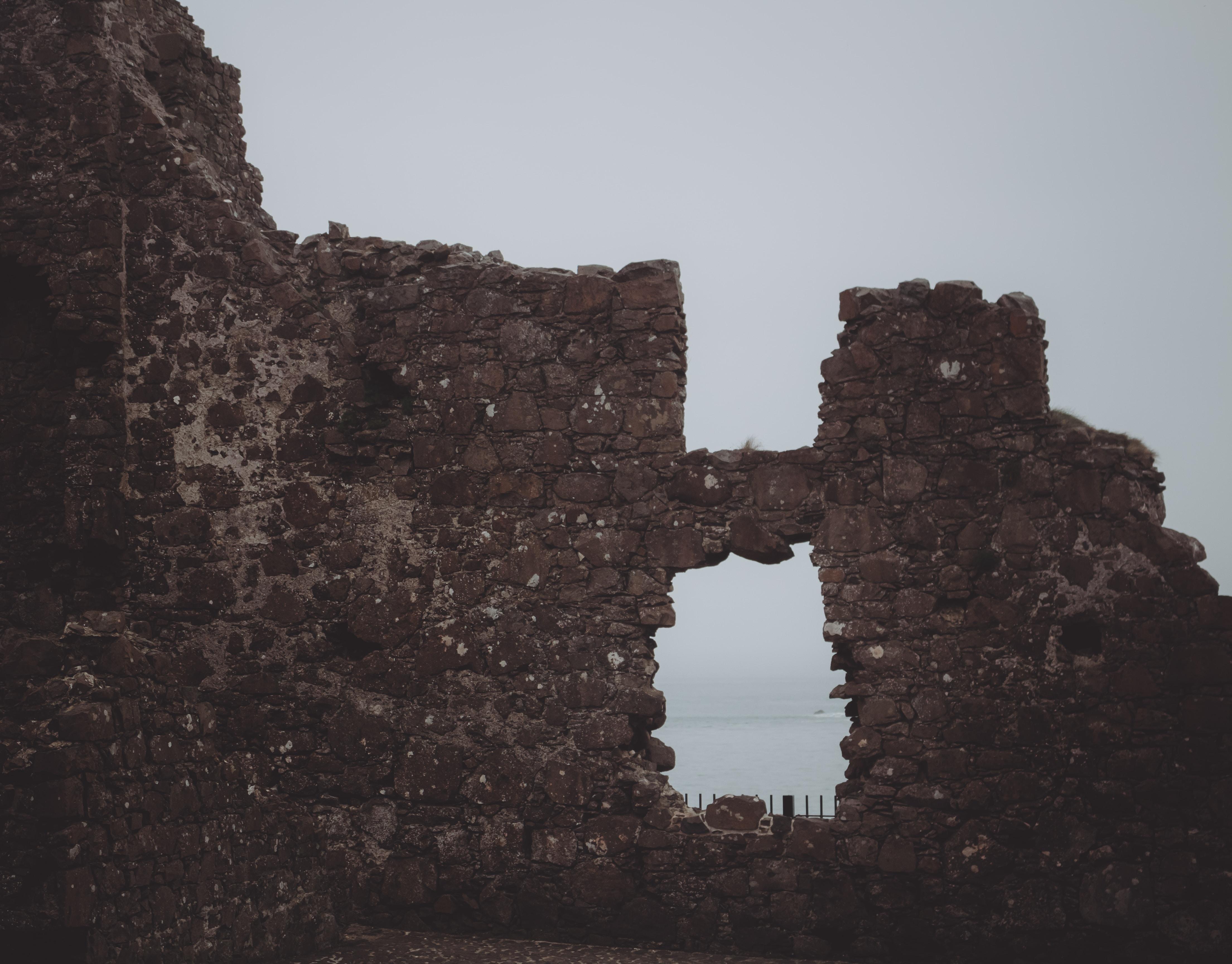 brown castle ruin landscape photography