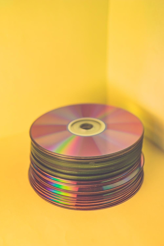 pile of media discs