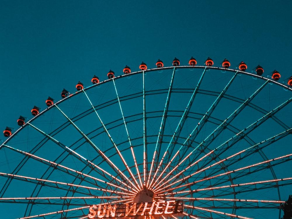 low-angle view of Sun Wheel Ferris wheel