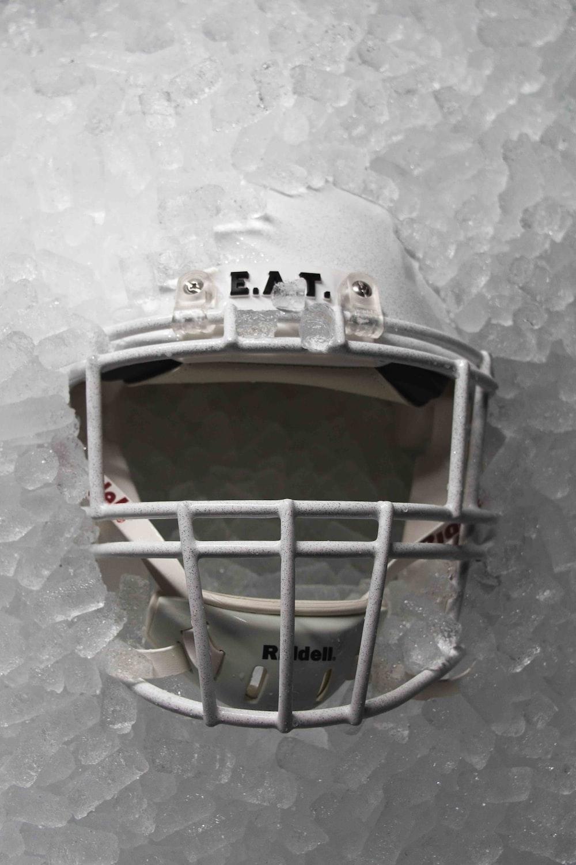 white umpire helmet