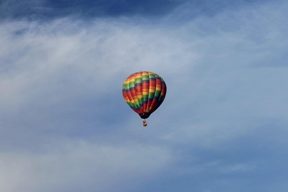 hot air balloon on air
