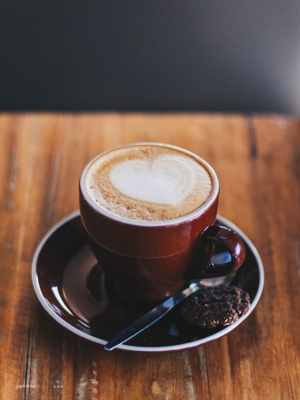 cup of coffee in brown saucer
