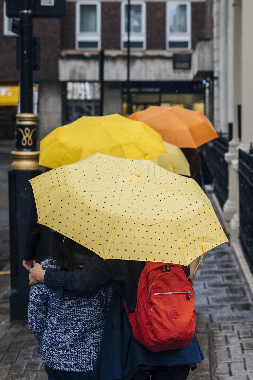 yellow and orange umbrellas