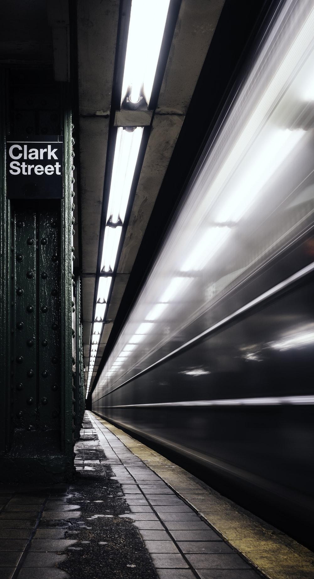 Clark Street signage during daytime