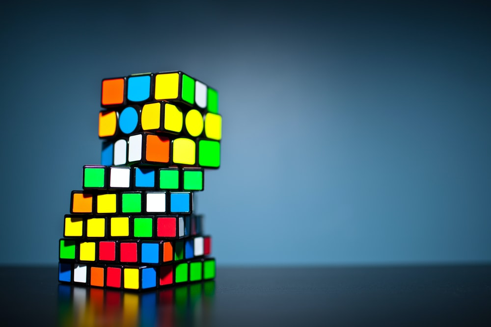 multi-color rubicks cube