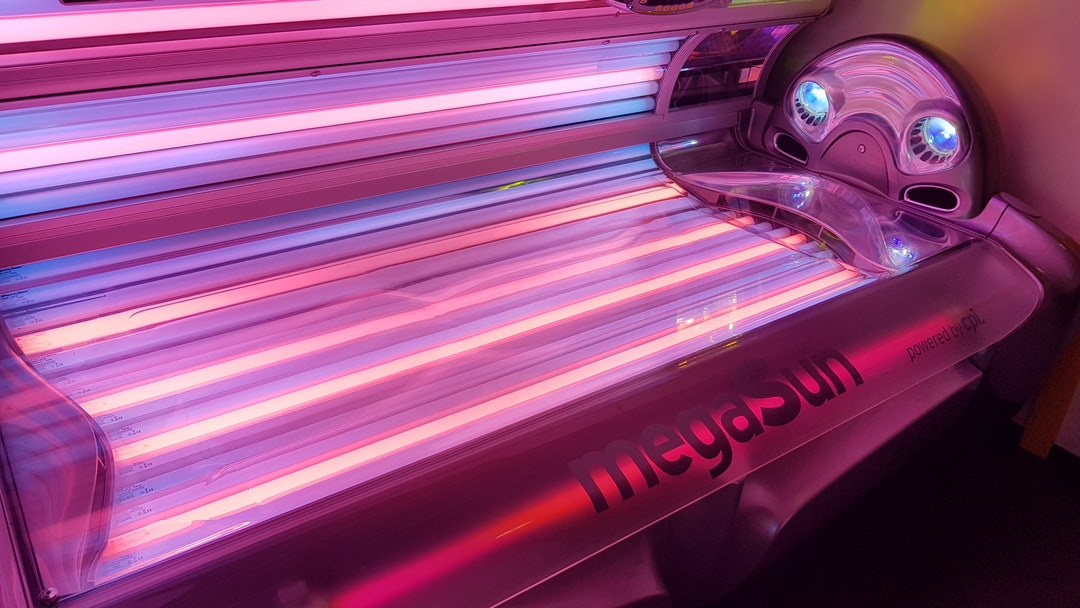 The new lightning in the megasun sunbed with collagen boosting lights at Bodyland in Zwijndrecht.